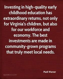Investing in high-quality early 