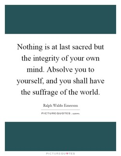 Nothing is at last sacred but 