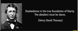 Disobedience is the true foundation of liberty. 