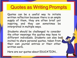 Quotes as Writing Prompts 
