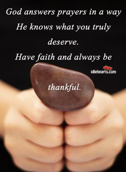God answers prayers in a way 