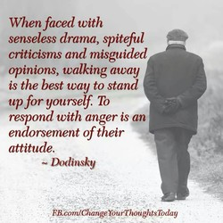When faced with 