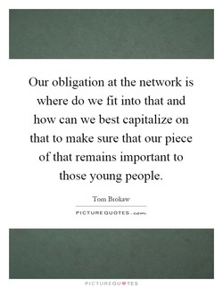 Our obligation at the network is 