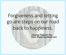 Forgiveness and letting 