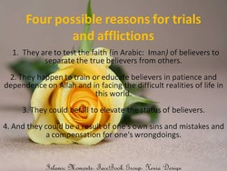 Four possible reasons for trials 