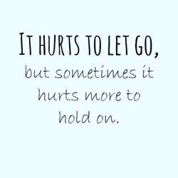 IT HURTS TO GO, 
