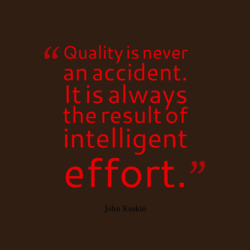 Quality is never 
