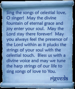 Sing the songs of celestial love, 