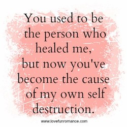 You used to be 