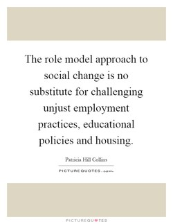 The role model approach to 