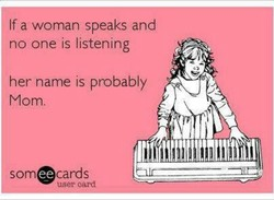If a woman speaks and 