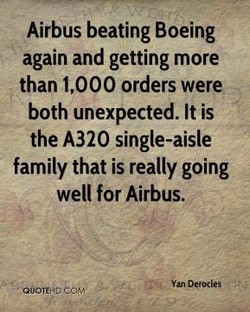 Airbus beating Boeing 