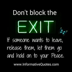 Don't block the 