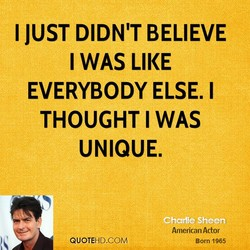 I JUST DIDN'T BELIEVE 