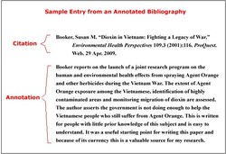 Sample Entry from an Annotated Bibliography 