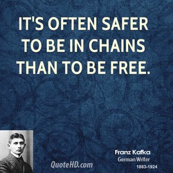 IT'S OFTEN SAFER 