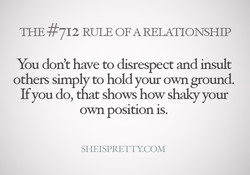 THE #712 RULE OFA RELATIONSHIP 