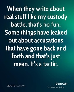 When they write about 