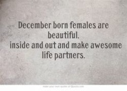 December born females are 