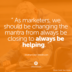 As marketers, we 