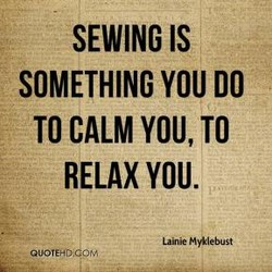 SEWING IS 