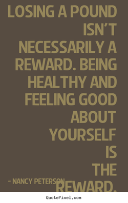 LOSING A POUND 