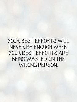 YOUR BEST EFFORTS WILL 