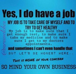 Yes, I do have a job 