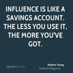 INFLUENCE IS LIKE A 