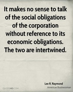 It makes no sense to talk 