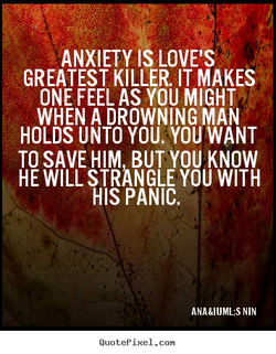 ANXIETY LOVE'S 