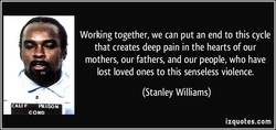 Working together, we can put an end to this cycle 