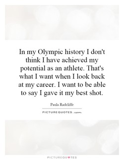 In my Olympic history I don't 