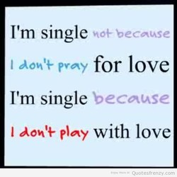 I'm single 