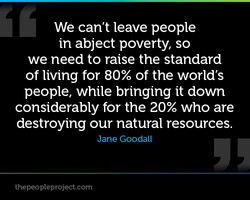 We can't leave people 