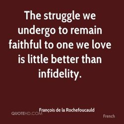 The struggle we 