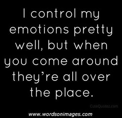 I control my 