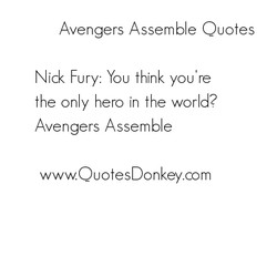 Avengers Assemble Ouotes 