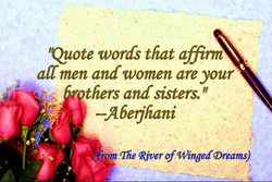 'Quote words that affinn 