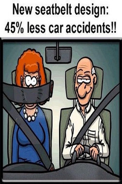 New seatbelt design: 
