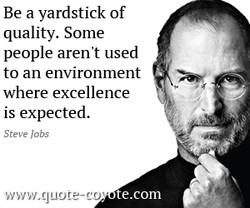 Be a yardstick of 