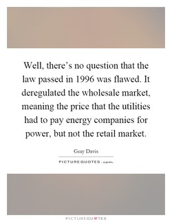 Well, there's no question that the 