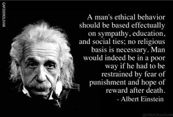 A man's ethical behavior 