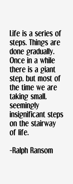 Life is a series of 