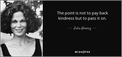 The point is not to pay back 