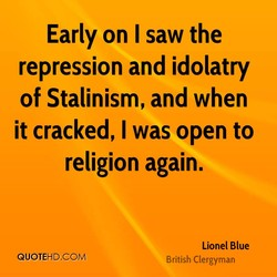 Early on I saw the 