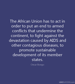 The African Union has to act in 