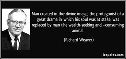 Man created in the divine image, the protagonist of a 