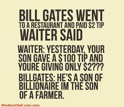 BILL GATES WENT 
