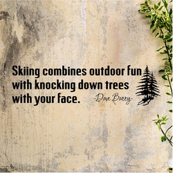 Skiing combines outdoor fun 